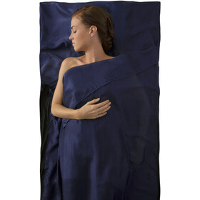 Sea to Summit Silk Stretch Liner Para Viajes con Funda para Almohada, navy blue
